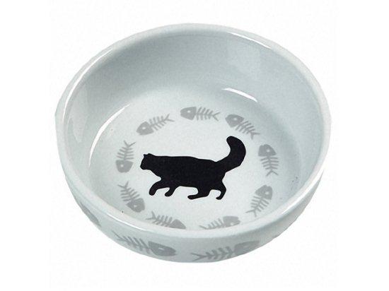 Flamingo CATS SINGLE миска для кошек с рисунком, керамика (504260)