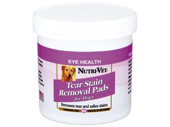 Nutri-Vet (Нутри-вет) ОЧИСТКА ПЯТЕН влажные салфетки для удаления пятен от слез и слюны у собак, 90 шт