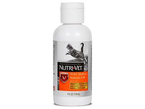 Nutri-Vet (Нутри Вет) Salmon Oil - МАСЛО ДИКОГО ЛОСОСЯ добавка для шерсти котов, 118 мл