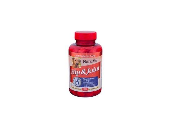 Nutri-Vet (Нутри Вет) Hip & Joint Advanced - СВЯЗКИ И СУСТАВЫ АДВАНСИД глюкозамин, хондроитин, МСМ для собак (3 уровень) 90 табл