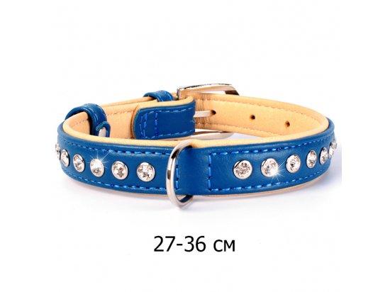 Collar Brilliance - Ошейник кожаный двойной для собак со стразами (СКИДКА 30% - РАСПРОДАЖА)