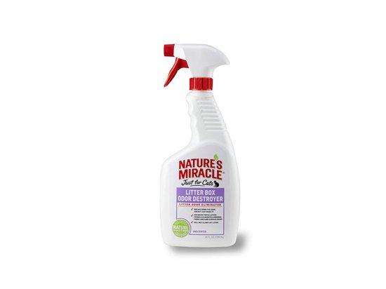 Natures Miracle (Нейчерлз Миракл) FOR CATS LITTER BOX (УНИЧТОЖИТЕЛЬ ЗАПАХА) спрей для туалета котов, 709 мл