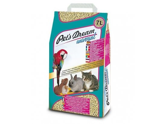 Pets Dream universal древесный гигиенический наполнитель, 7 л