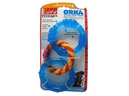 Petstages (Петстейджес) Dental Links Игрушка для собак Кольца для зубов, диаметр 10 см