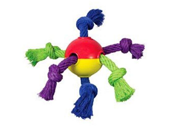 PETSTAGES Hearty Chew - Мячик с канатами - игрушка для собак, диаметр 8 см