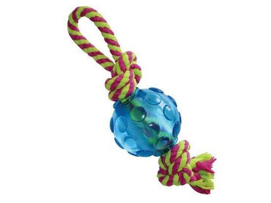 PETSTAGES Mini Orka Ball with rope Орка мини мячик с канатиками - игрушка для собак, 22 x 6 x 6 cм