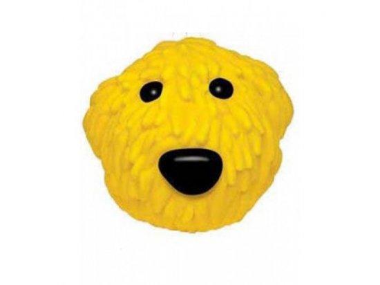 Petstages (Петстейджес) Ol Yellow - Желтая собака - Виниловая игрушка для собак, диаметр 8 см