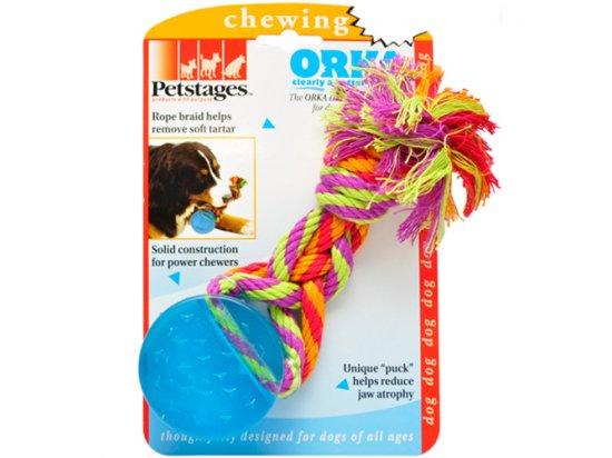 PETSTAGES Orka Dental Puck - Орка Шайба с канатом - игрушка для собак, длина 21,5 см