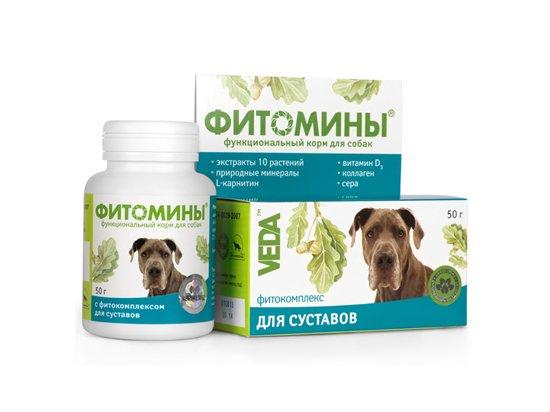 Veda Фитомины - Для укрепления и восстановления суставов для собак, 100 табл.
