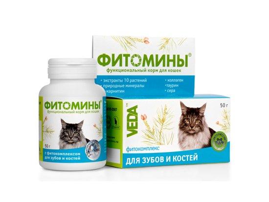 Veda Фитомины - Для зубов и костей для кошек, 100 табл