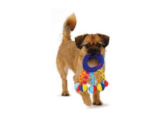PETSTAGES Toss and Shake Игрушка для собак Кольцо-погремушка текстильное, 18 х 10 см