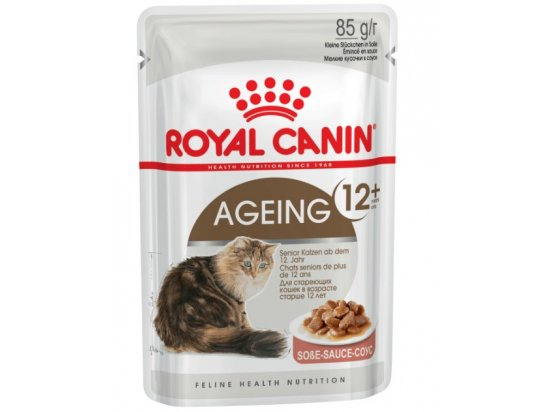 Royal Canin AGEING 12+ влажный корм для кошек старше 12 лет (кусочки в соусе)