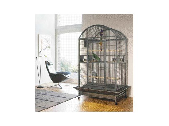 Savic Вольер для попугаев KARUMBA BOW, темно-серый, 100Х80Х187 см