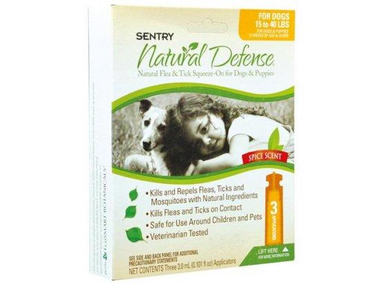 SENTRY Natural Defense НАТУРАЛЬНАЯ ЗАЩИТА - Капли от блох и клещей для собак