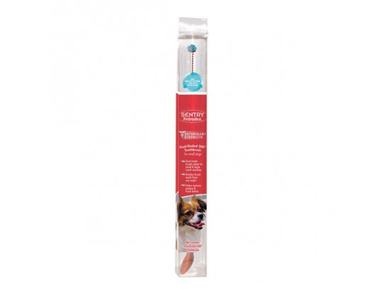 SENTRY Petrodex ДВОЙНАЯ 360 ГРАДУСОВ (360 dual-ended) зубная щетка для собак малых пород
