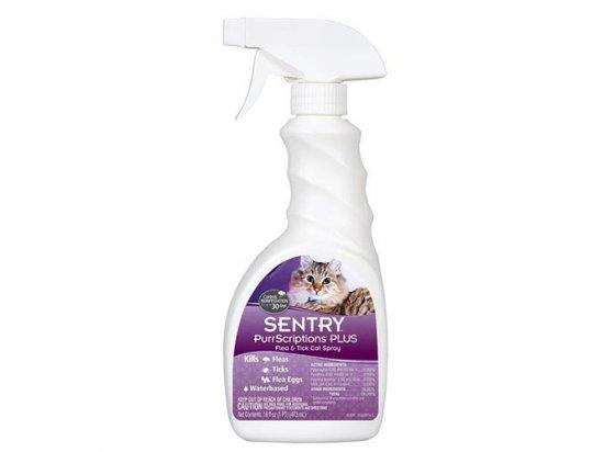 Sentry (Сентри) PURRSCRIPTIONS PLUS (ПУРРСКРИПШНС ПЛЮС) спрей от блох и клещей для кошек 473 мл