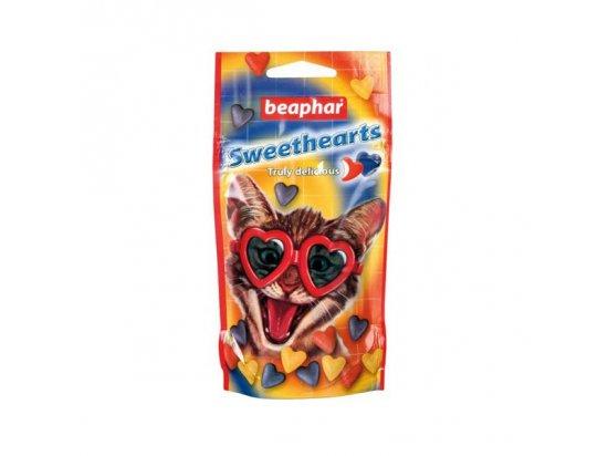Beaphar SWEETHEARTS Лакомство для кошек сердечки со вкусом курицы, 150 шт