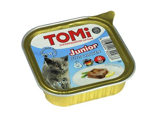 TOMi Junior консервы для котят - паштет, КУРИЦА