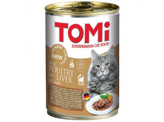 TOMi poultry+liver консервы для кошек - кусочки в соусе ПТИЦА и ПЕЧЕНЬ