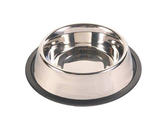 TRIXIE - Миска из нержавеющей стали с резиновым ободком для собак и кошек