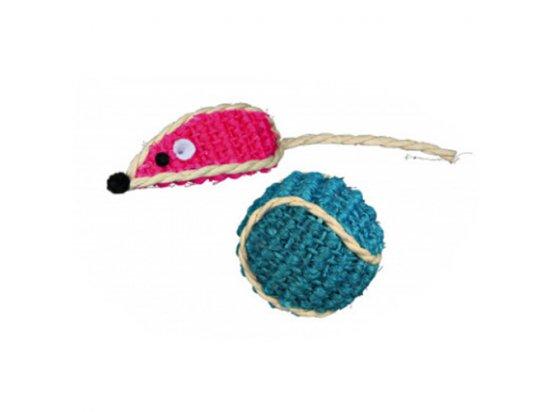 Trixie МЫШЬ и МЯЧ набор игрушек для кошек (40760)