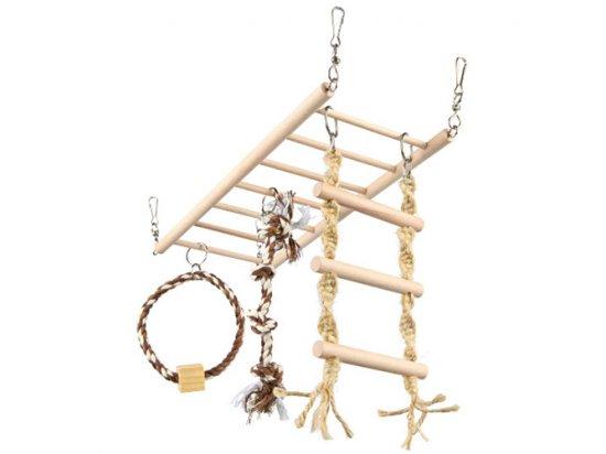 Trixie Подвесной мост с игрушками для хорьков, кроликов, шиншилл (6905)
