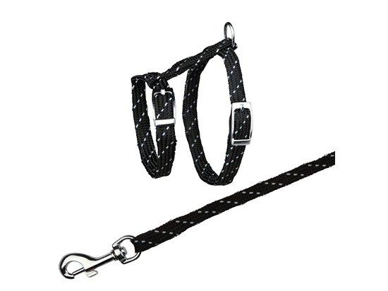 Trixie Cat Harness - Комплект для кошек - Светоотражающая шлея + поводок (4183)