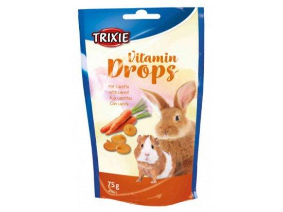 Trixie Vitamin Drops - Дропсы для грызунов МОРКОВЬ, 75 г (6023)