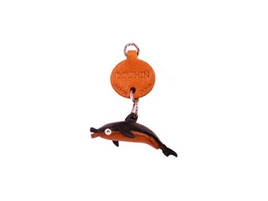 Vanca ДЕЛЬФИН, 3D брелок на ключи, натуральная кожа (56304)