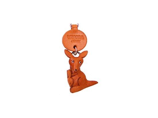 Vanca КЕНГУРУ, 3D брелок на мобильный, натуральная кожа (46210)