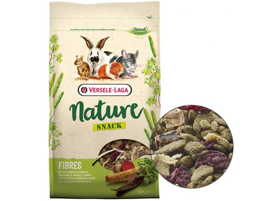 Versele-Laga СНЭК НАТЮР КЛЕТЧАТКА (Snack Nature Fibres) лакомство для грызунов, 500 г
