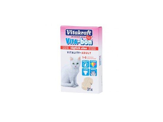 Vitakraft (Витакрафт) VITA-BON Cat - Витамины для кошек, 31 табл