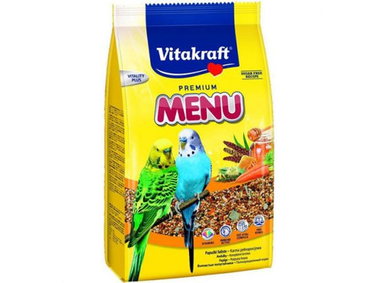 Vitakraft (Витакрафт) Menu Vital корм для волнистых попугаев