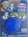 Flexi (Флекси) CLICK 3 (КЛИК ЛЕНТА) поводок-рулетка для собак средних и крупных пород, длина 50 см