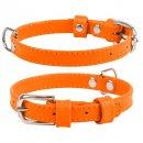 Collar GLAMOUR Кожаный ошейник для собак плоский