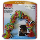 Petstages (Петстейджес) Multi Rope Chew - Цветной канат с узлами - Игрушка для средних и крупных собак, длина 30 см