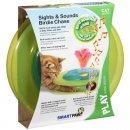 PETSTAGES Sights&Sounds Birdie Chase - Музыкальный Трек с мячиком и птичкой - игрушка для кошек, диаметр 31 см