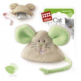 GiGwi (Гигви) Catch&Scratch МЫШКА игрушка для котов с кошачьей мятой, 8 см