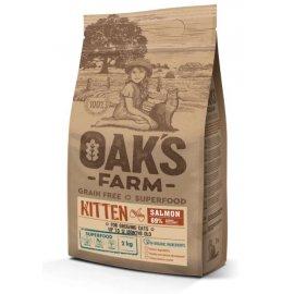 Oak's Farm Salmon Kitten беззерновой корм для котят до 12 месяцев ЛОСОСЬ