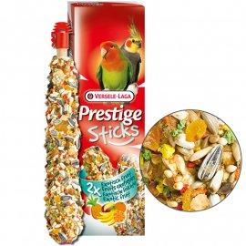 Versele-Laga (Верселе-Лага) Prestige STICKS BIG PARAKEETS EXOTIC FRUIT лакомство для средних попугаев, ЭКЗОТИЧЕСКИЕ ФРУКТЫ 140 г (2 шт.)