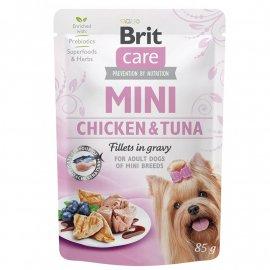 Brit Care MINI FILLETS TUNA & CHICKEN консервы для собак мелких пород ТУНЕЦ И КУРИЦА В СОУСЕ