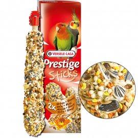 Versele-Laga (Верселе-Лага) Prestige STICKS BIG PARAKEETS NUTS & HONEY лакомство для средних попугаев, ОРЕХИ С МЕДОМ 140 г (2 шт.)