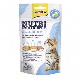 Gimсat NUTRI POCKETS JUNIOR (НУТРИ ПОКЕТС ЮНИОР ПОДУШЕЧКИ) лакомство для котят
