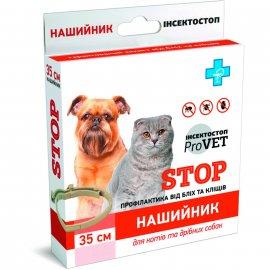 ProVET Инсектостоп ошейник для кошек и мелких собак от блох и клещей, 35 см