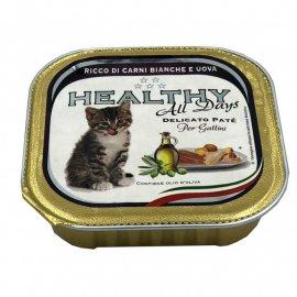 Healthy All Days WHITE MEAT & EGGS KITTEN влажный корм для котят БЕЛОЕ МЯСО и ЯЙЦА