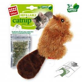 GiGwi (Гигви) БОБРЕНОК игрушка для котов с кошачьей мятой