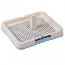 AnimAll туалет под пеленку с сеткой и столбиком для собак , 48,3 x 40,3 х 4 см, голубой