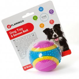 Flamingo 5 SENSES BALL интерактивная игрушка для собак, мяч, резина