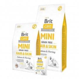 Brit Care Grain-free MINI HAIR & SKIN SALMON (КОЖА И ШЕРСТЬ ЛОСОСЬ) беззерновой корм для взрослых собак мини пород