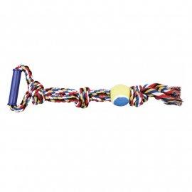 Trixie КАНАТ С УЗЛАМИ МЯЧОМ И РУЧКОЙ игрушка для собак (3280)